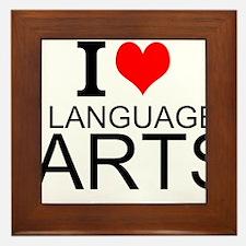 I Love Language Arts Framed Tile