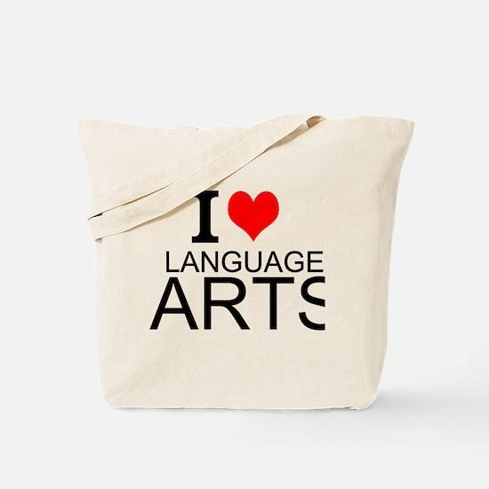 I Love Language Arts Tote Bag