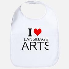 I Love Language Arts Bib