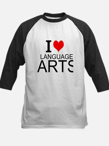 I Love Language Arts Baseball Jersey