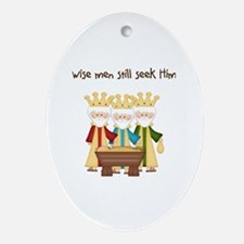 Cute Crown christmas Oval Ornament