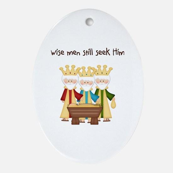 Cute Christian humor Oval Ornament