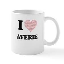 I love Averie (heart made from words) design Mugs