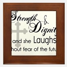 Cute Women of the bible Framed Tile