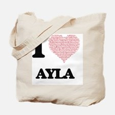 I love Ayla (heart made from words) desig Tote Bag