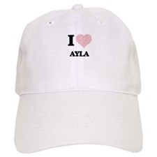 I love Ayla (heart made from words) design Cap