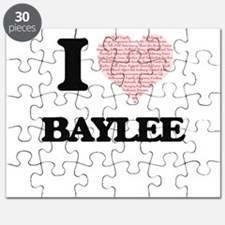 I love Baylee (heart made from words) desig Puzzle