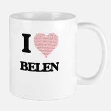 I love Belen (heart made from words) design Mugs
