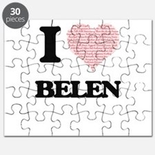 I love Belen (heart made from words) design Puzzle
