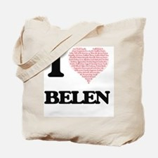 I love Belen (heart made from words) desi Tote Bag