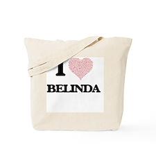 I love Belinda (heart made from words) de Tote Bag