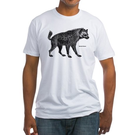 Spotted Hyena (Front) Fitted T-Shirt