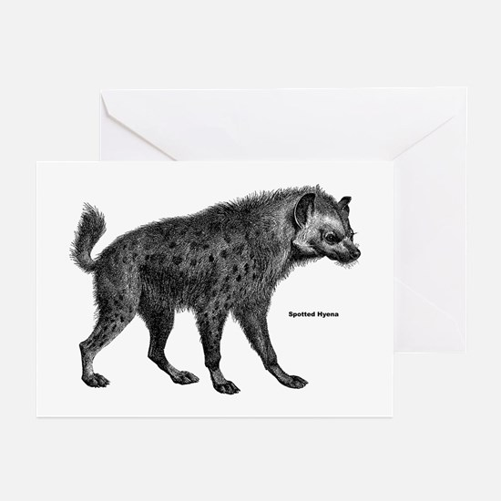 Spotted Hyena Greeting Cards (Pk of 10)