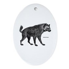 Spotted Hyena Oval Ornament