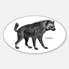 Spotted Hyena Oval Decal