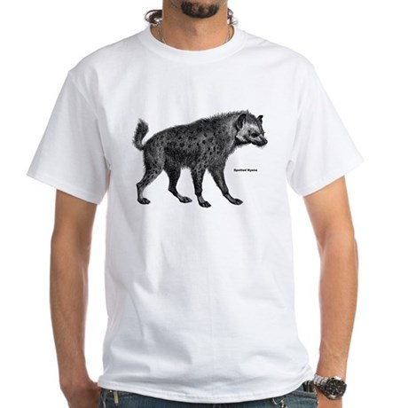 Spotted Hyena (Front) White T-Shirt