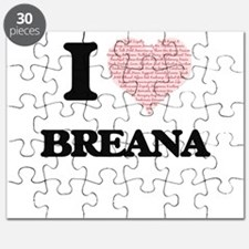 I love Breana (heart made from words) desig Puzzle