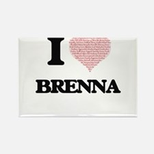 I love Brenna (heart made from words) desi Magnets