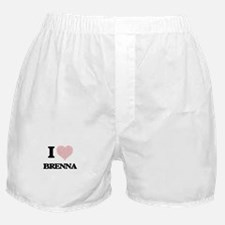 I love Brenna (heart made from words) Boxer Shorts