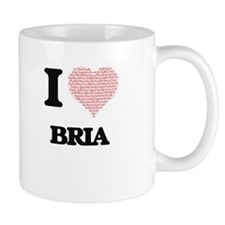I love Bria (heart made from words) design Mugs