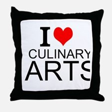 I Love Culinary Arts Throw Pillow