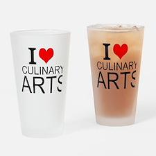 I Love Culinary Arts Drinking Glass