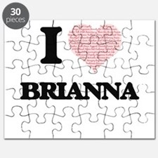 I love Brianna (heart made from words) desi Puzzle