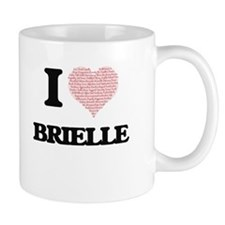I love Brielle (heart made from words) design Mugs