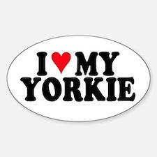 Yorkie Dog Oval Decal