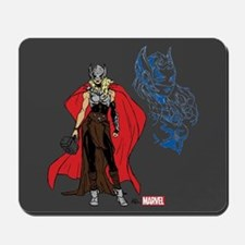 Female Thor Standing Mousepad