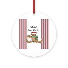 Bear World's Best Mother Ornament (Round)