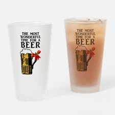 The Most Wonderful Time for a Beer Drinking Glass