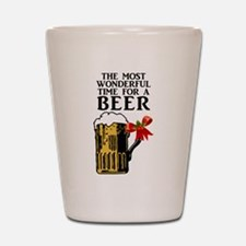 The Most Wonderful Time for a Beer Shot Glass
