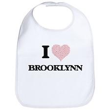 I love Brooklynn (heart made from words) desig Bib
