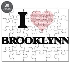 I love Brooklynn (heart made from words) de Puzzle