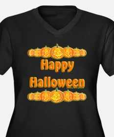 Happy Halloween 3 Women's Plus Size V-Neck Dark T-