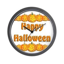 Happy Halloween 3 Wall Clock