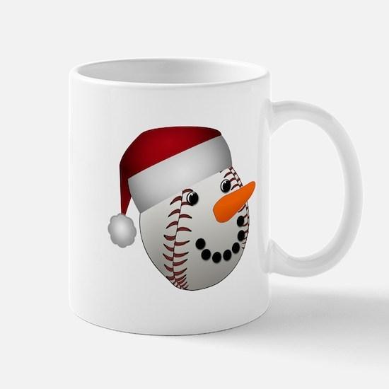 Christmas Baseball Snowman Mugs