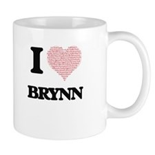 I love Brynn (heart made from words) design Mugs
