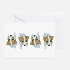 Jack Russell Puppies! Greeting Cards (Pkg.of 6)