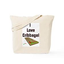 I Love Cribbage Tote Bag