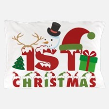 Cute Baby%27s first christmas Pillow Case