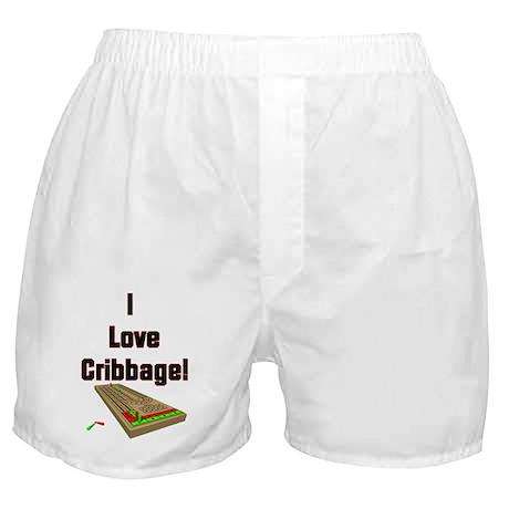 I Love Cribbage Boxer Shorts