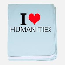 I Love Humanities baby blanket