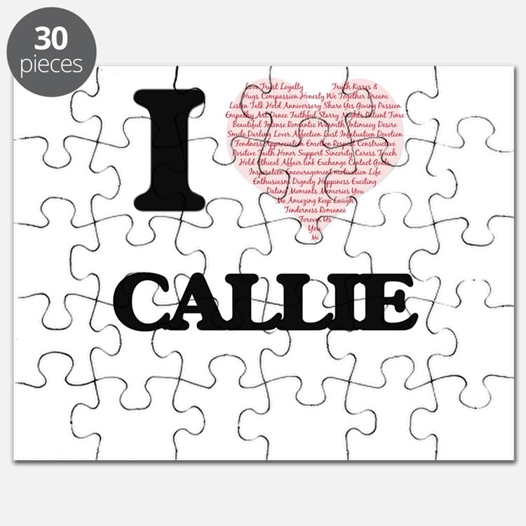 I love Callie (heart made from words) desig Puzzle
