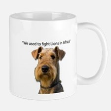 Airedales used to Fight Lions in Africa with Mugs