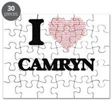 I love Camryn (heart made from words) desig Puzzle