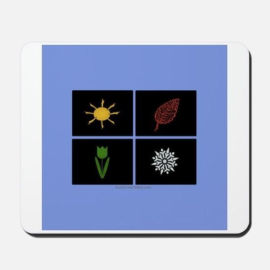 Four Seasons Blue Mousepad