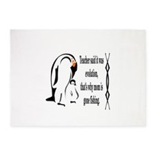 Emperor Penguin Is A Stay At Home 5'x7'are