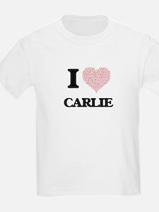 I love Carlie (heart made from words) desi T-Shirt